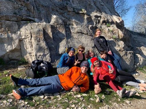 Тренировка на скалах в Крыму